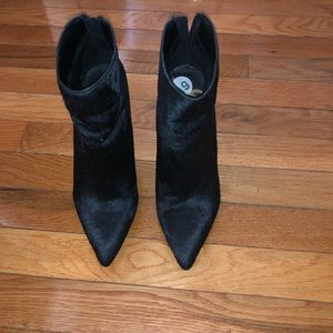 Black Booties with Gold Heel